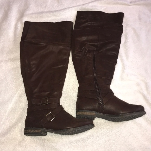 16ec010d0bf1 Torrid Shoes | Brown Slouchy Over The Knee Boot | Poshmark